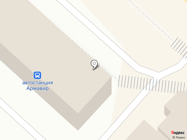 Автостанция г. Армавира на карте Армавира