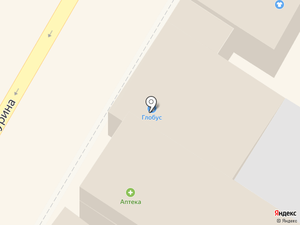 Глобус на карте Армавира