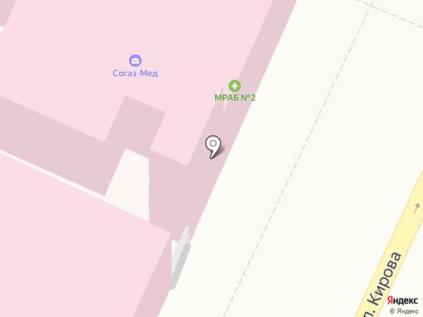 Поликлиника №1 на карте Армавира