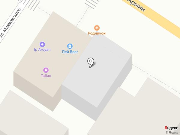 Памятник на карте Армавира
