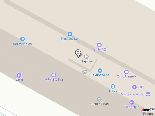 Дорсан на карте Армавира