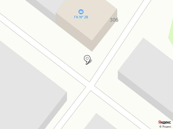 Гаражный кооператив №28 на карте Армавира