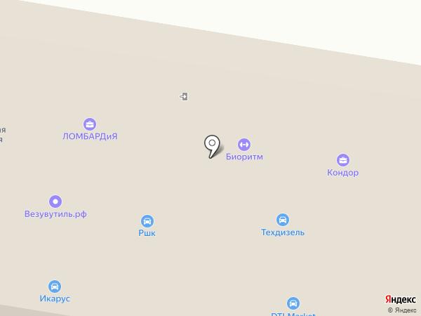 Аккумуляторный центр на карте Тамбова