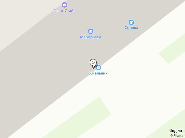 Шпильки на карте Тамбова