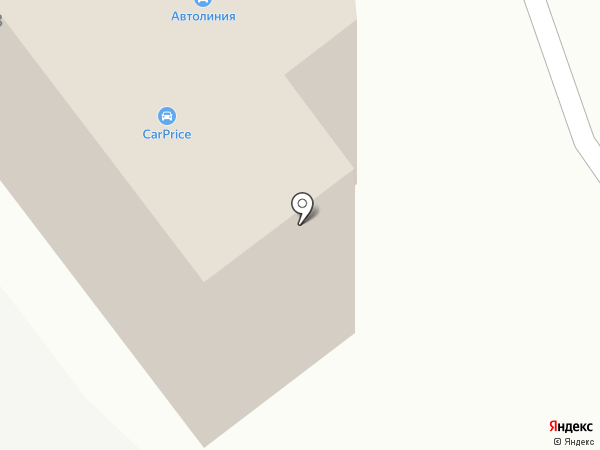 Автолиния на карте Тамбова