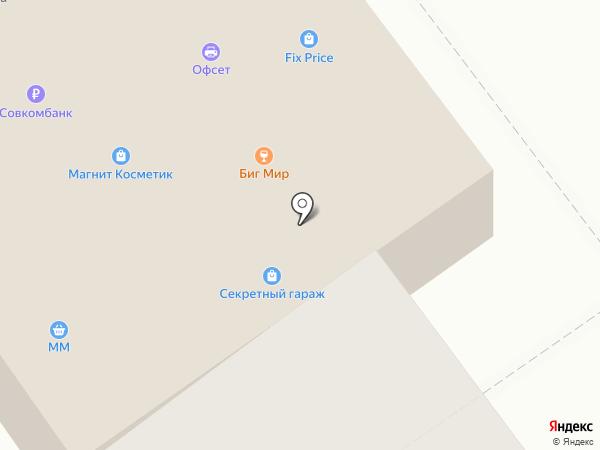 Магнит на карте Тамбова