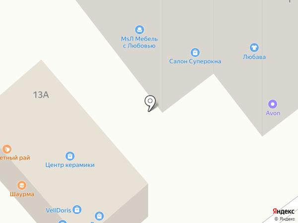 Любава на карте Тамбова