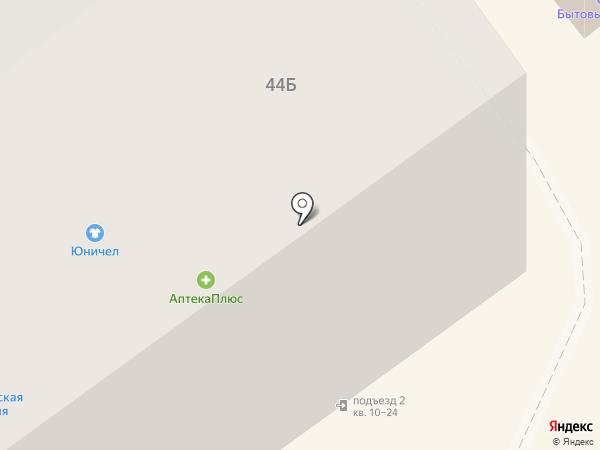 Зеленая точка на карте Тамбова