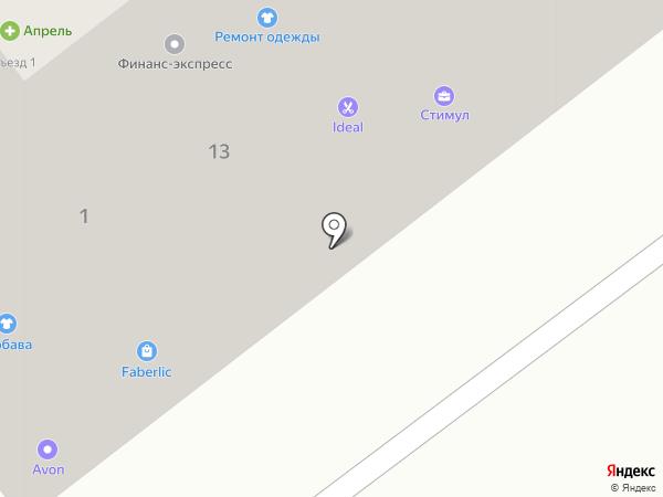 Стимул на карте Тамбова