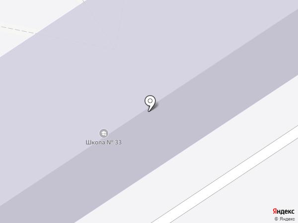 Средняя общеобразовательная школа №33 на карте Тамбова