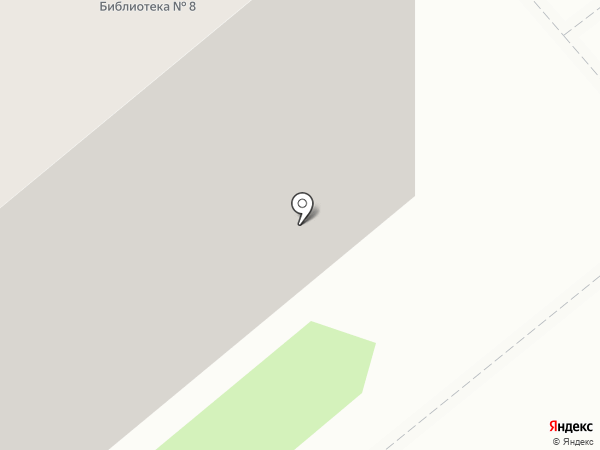 Библиотека №8 на карте Тамбова