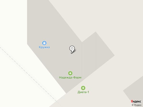 Кружка на карте Тамбова