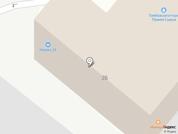 Норма24 на карте Тамбова
