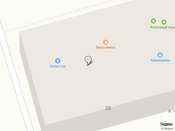 Аквамарин на карте Тамбова
