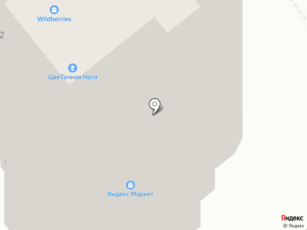 Цветочная Нота на карте Тамбова