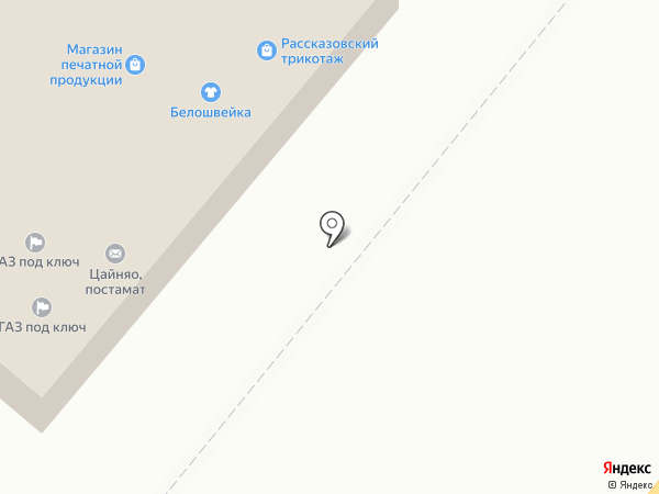 Магазин зоотоваров на карте Тамбова
