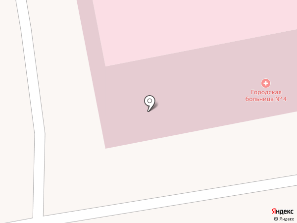 Городская клиническая больница №4 на карте Тамбова