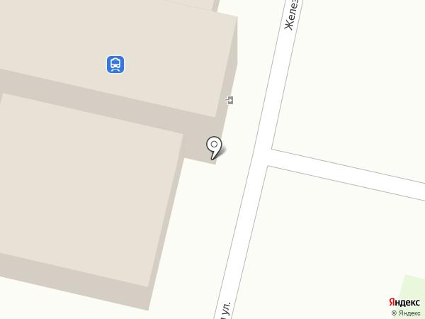 Пригородный железнодорожный вокзал на карте Бокино