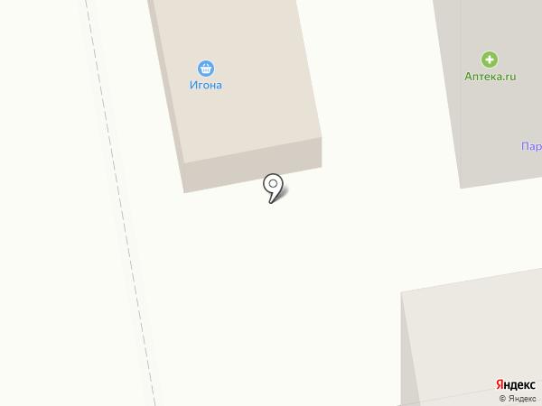 Игона на карте Тамбова