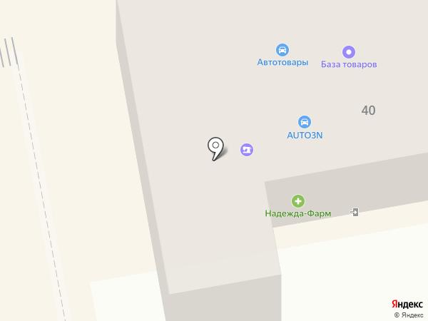 Магазин автотоваров для ВАЗ на карте Тамбова