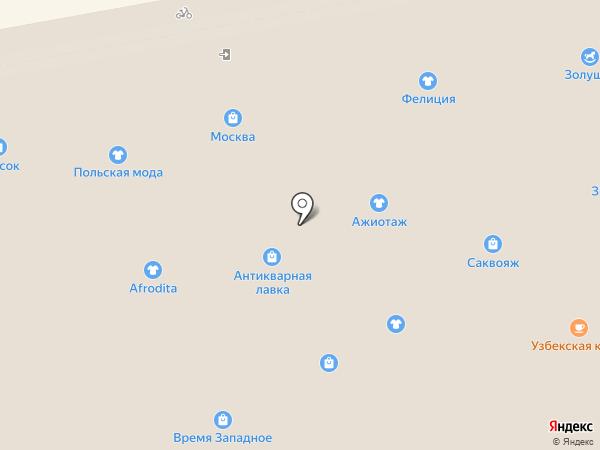 Антилопка на карте Тамбова