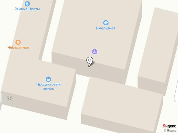 Магазин цветов на карте Строителя