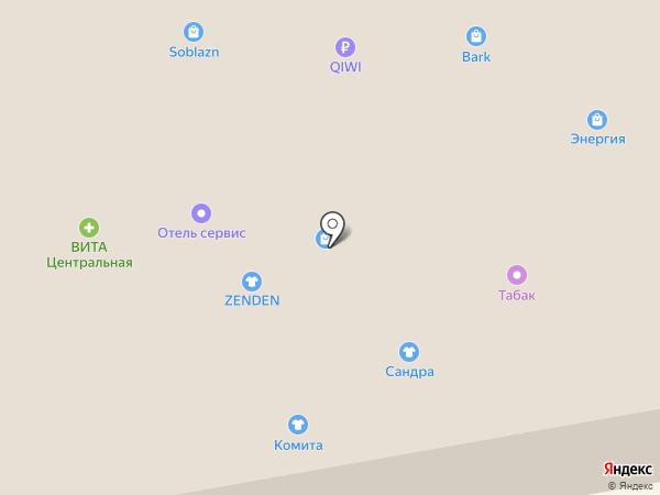 Франт на карте Тамбова