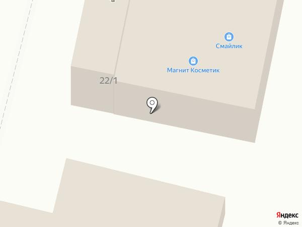 Смайлик на карте Строителя