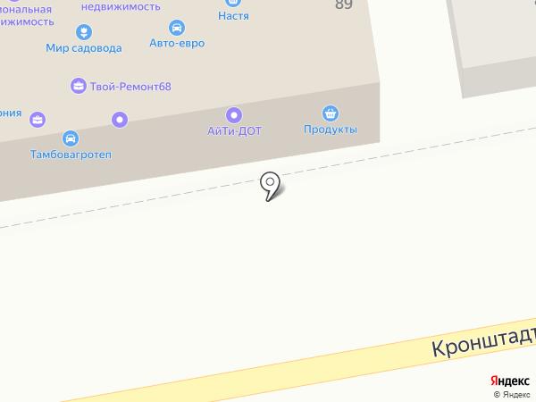 Настя на карте Тамбова