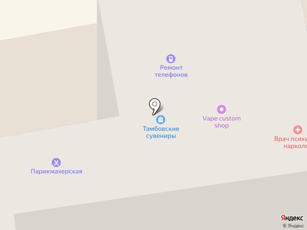 Тамбовские сувениры на карте Тамбова
