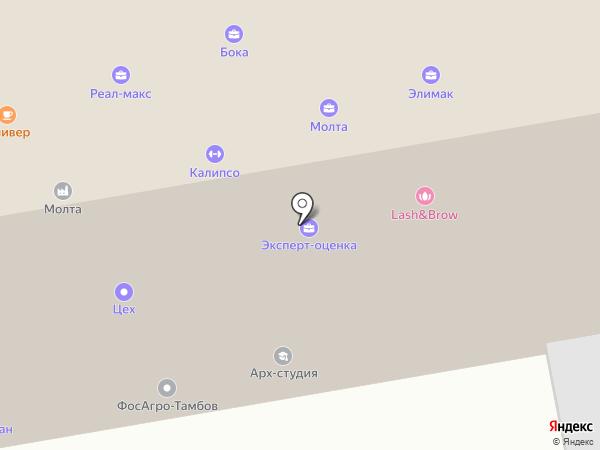 Элимак на карте Тамбова