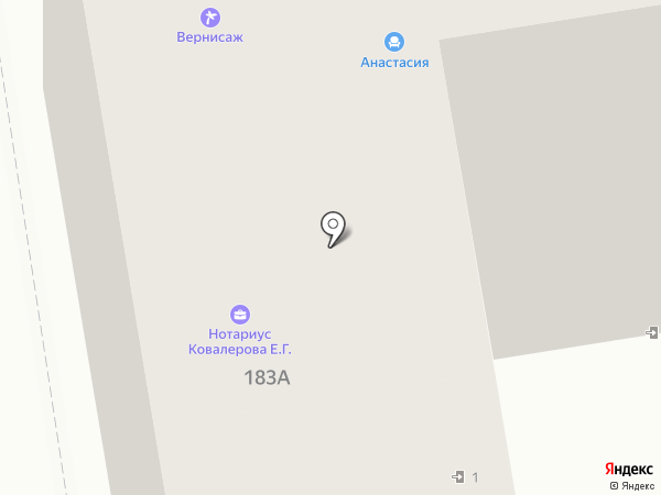 Нотариус Ковалерова Е.Г. на карте Тамбова