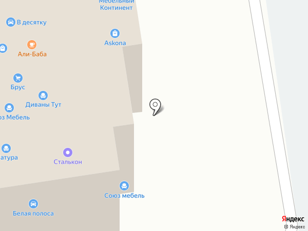 Мебельный Континент на карте Тамбова