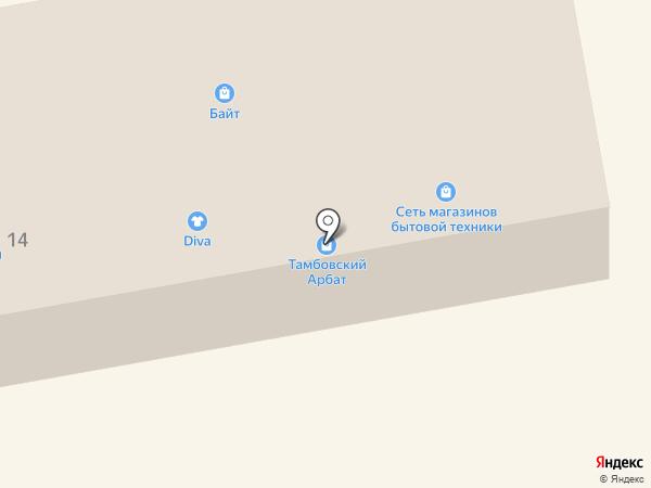 Тамбовская керамика на карте Тамбова