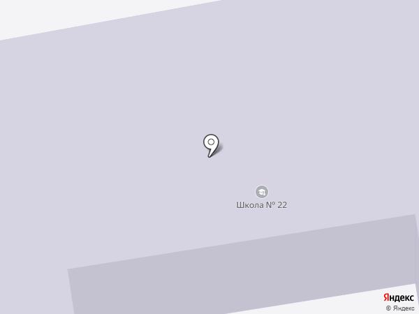Средняя общеобразовательная школа №22 с углубленным изучением отдельных предметов на карте Тамбова