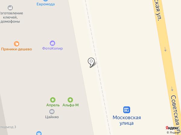 Эконом на карте Тамбова