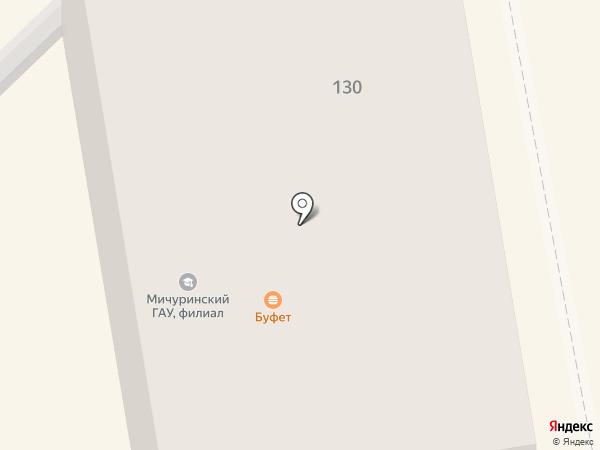 Мичуринский государственный аграрный университет на карте Тамбова
