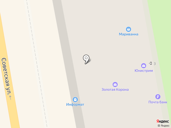 Inформат на карте Тамбова