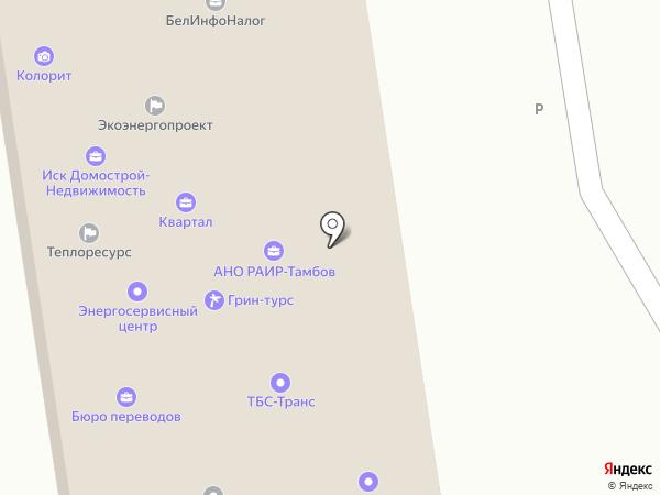 Тамак на карте Тамбова