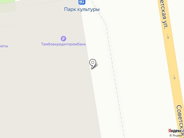 Банкомат, Тамбовкредитпромбанк на карте Тамбова