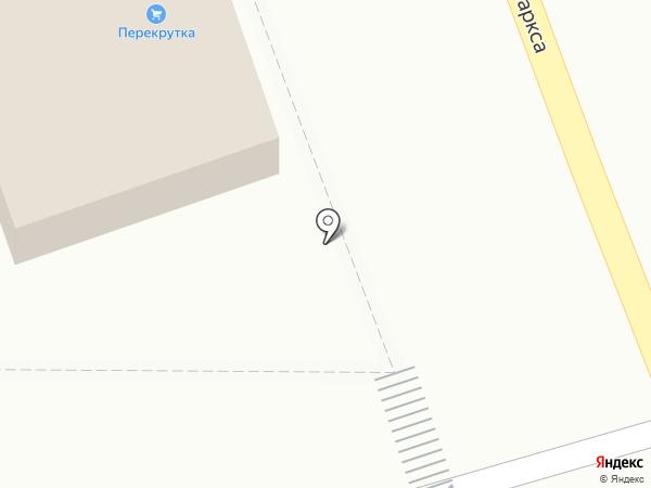 Перекрутка на карте Тамбова