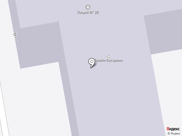 Лицей №28 им. Н.А. Рябова на карте Тамбова