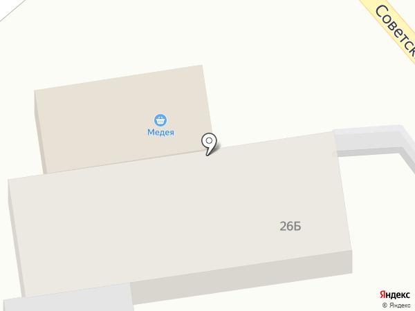 Продовольственный магазин на карте Бокино