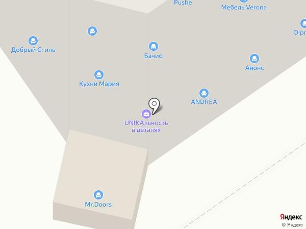 Ателье мебели на карте Тамбова