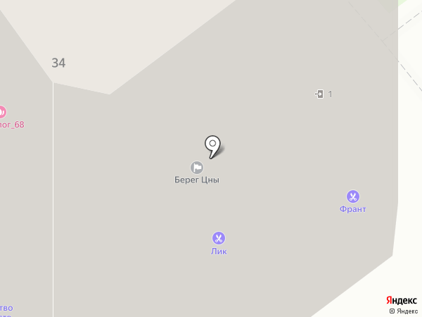 Берег Цны, ТСЖ на карте Тамбова
