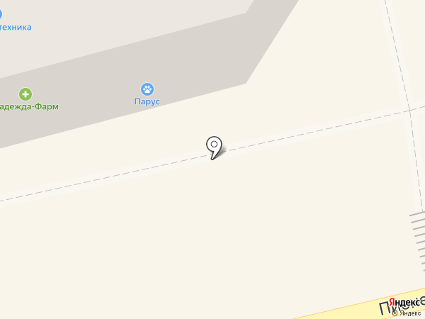 Парус на карте Тамбова