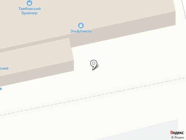 Тамбовский бройлер на карте Тамбова