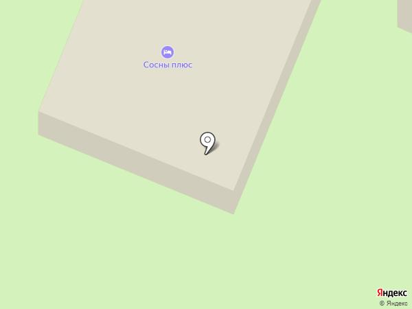 Сосны на карте Заречья