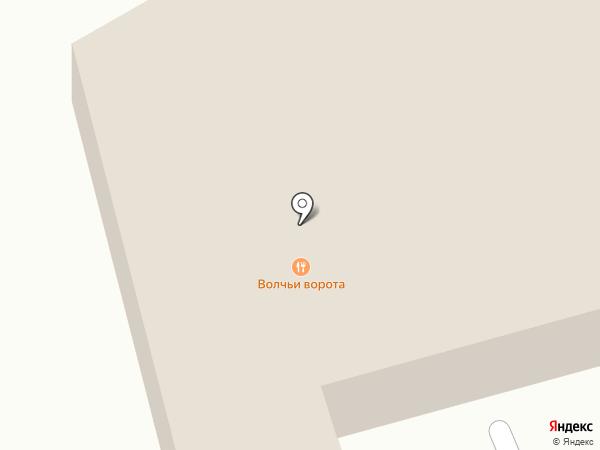 Волчьи Ворота на карте Ставрополя