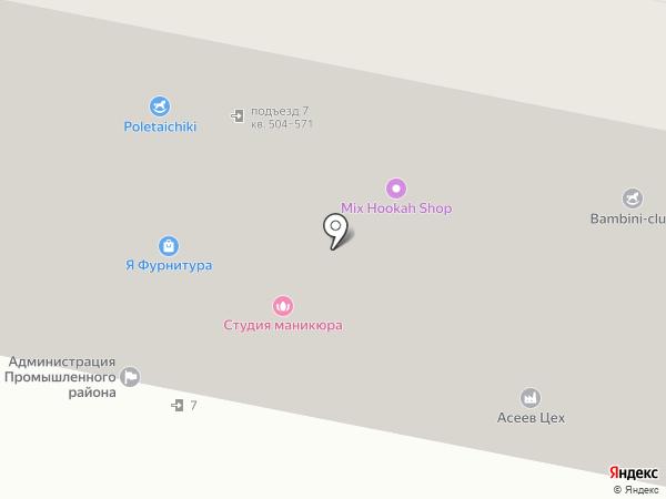 Виварди на карте Ставрополя